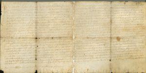 Pergamí original de la carta pobla de Montesa i Vallada. 16.10.1289