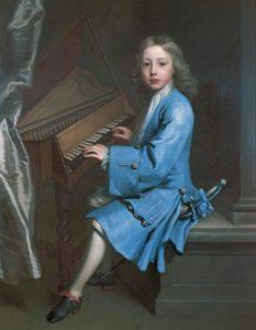 Xiquet tocant l'orgue