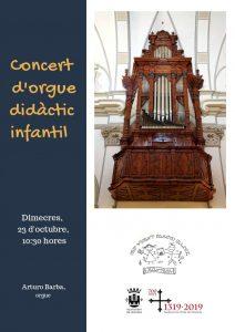 Concert d'orgue didàctic infantil. 23.10.19