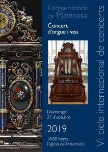 Concert orgue Montesa 27.10.19